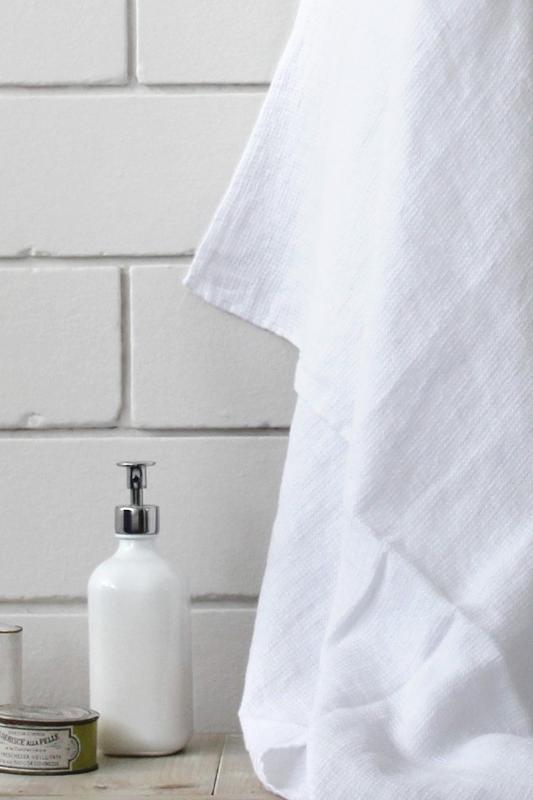 Linen bath towel - Shop Zanuso