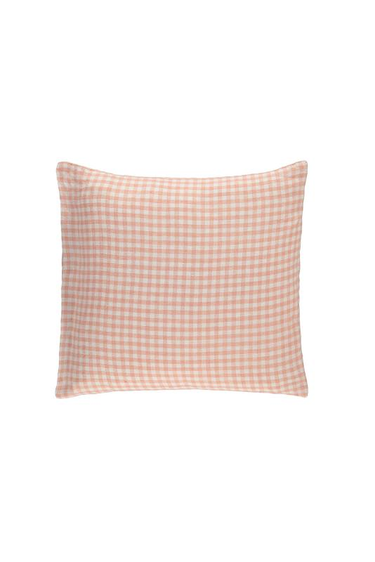 Gingham linen pillowcase
