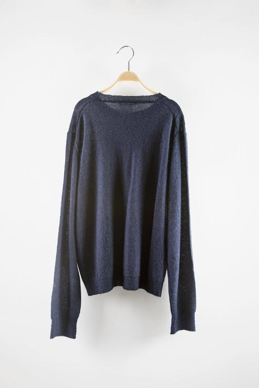 Round-neck knit sweater