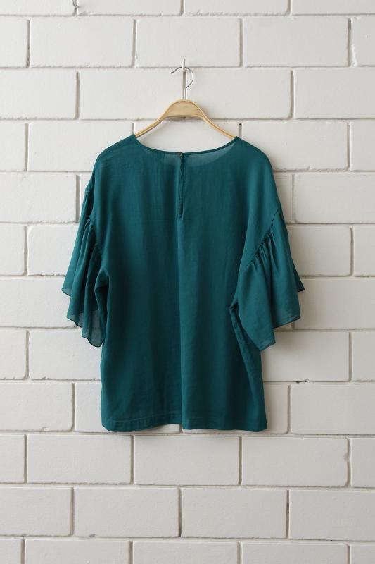 Blouse with butterfly sleeves