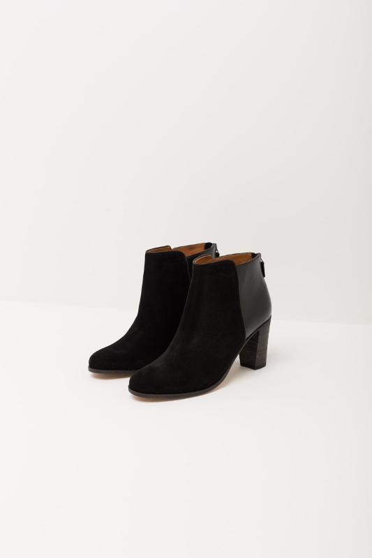 Ankle heeled boot